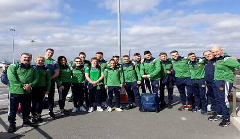 Team Ireland arrived in Germany